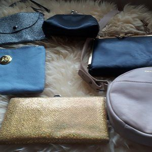 Small clutch and crossbody purses